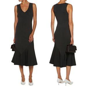 🆕 THEORY Gardella fluted stretch-knit midi dress